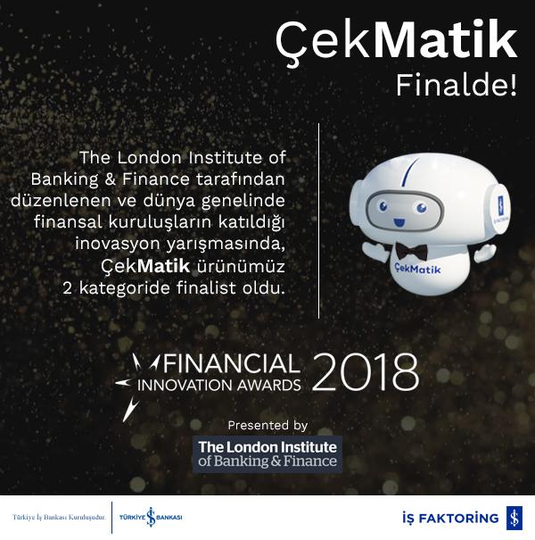 ÇekMatik ürünümüz 2 kategoride finalist olmaya hak kazandı
