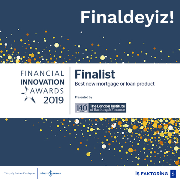 Financial Innovation Awards 2019'da finale kaldık!